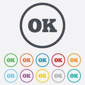 Ok sign icon. Positive check symbol. — Stock Vector