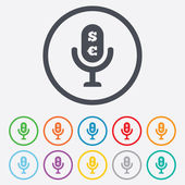 Microphone icon. Speaker symbol. Paid music sign — Stock Vector