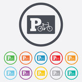 Parking sign icon. Bicycle parking symbol. — Stock Vector