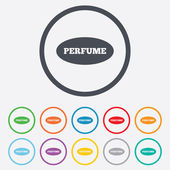 Perfume sign icon. Glamour fragrance oval symbol — Vetorial Stock
