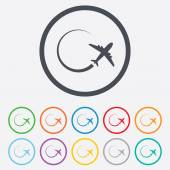 Airplane sign icon. Travel trip symbol. — Stock Vector