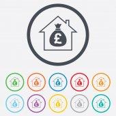 Mortgage sign icon. Real estate symbol. — Stock Vector