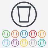 Recycle bin sign icon. Bin symbol. — Stock Vector