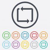 Repeat icon. Loop symbol. Refresh sign. — Stock Vector
