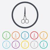 Scissors hairdresser closed icon. Tailor symbol. — Stock Vector