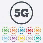 5g znak. Technologia telefonii komórkowej. — Wektor stockowy