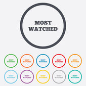 Most watched sign icon. Most viewed symbol. — Stock Vector