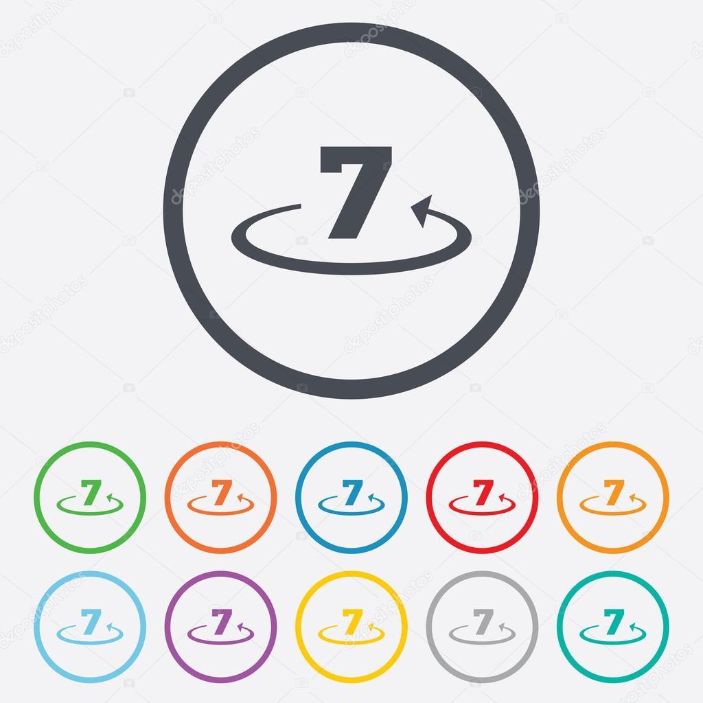 退货内 7 天标志图标 — 图库矢量图像08 blank