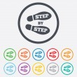 Step by step sign icon. Footprint shoes symbol. — Stock Vector #54987277