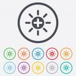 Sun plus sign icon. Heat symbol. Brightness. — Stock Vector #54987347