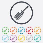 Screwdriver tool sign icon. Fix it symbol. — Stock Vector