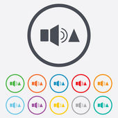 Speaker volume louder sign icon. Sound symbol. — Stock Vector