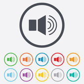 Speaker volume sign icon. Sound symbol. — Stock Vector