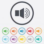 Speaker volume sign icon. Sound symbol. — Vector de stock