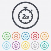 Timer 2s sign icon. Stopwatch symbol. — Stockvector