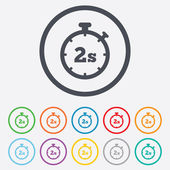 Timer 2s sign icon. Stopwatch symbol. — Vettoriale Stock