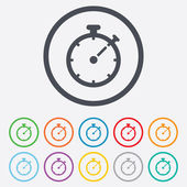 Timer sign icon. Stopwatch symbol. — Stockvector