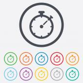 Timer sign icon. Stopwatch symbol. — Vecteur