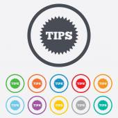 Tips sign icon. Star symbol. — Stock Vector