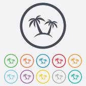 Palm Tree sign icon. Travel trip symbol. — ストックベクタ