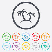 Palm Tree sign icon. Travel trip symbol. — Stock vektor