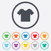 T-shirt sign icon. Clothes symbol. — Stock Vector
