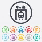 Underground sign icon. Metro train symbol. — Stock Vector