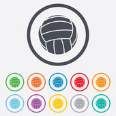 Volleyball sign icon. Beach sport symbol. — Stock Vector