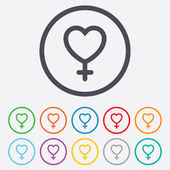 Female sign icon. Woman sex button. — Stock Vector