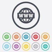 WWW sign icon. World wide web symbol. — Stockvector
