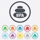 Spa sign icon. Spa stones symbol. — Stock Vector