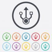 Ikona usb sign. usb flash disk symbol. — Stock vektor