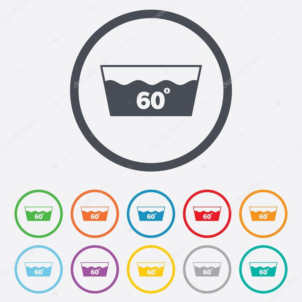 ic ne de lavage lavable en machine 60 degr s symbole image vectorielle blankstock 54987727. Black Bedroom Furniture Sets. Home Design Ideas