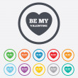 Be my Valentine sign icon. Heart Love symbol. — Stock Vector #55353069