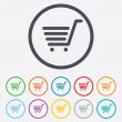 Shopping Cart sign icon. Online buying button. — Stock Vector #55353831