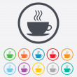 Coffee cup sign icon. Hot coffee button. — Stock Vector #55354327