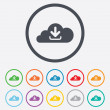 Download from cloud icon. Upload button. — Stock Vector #55357083