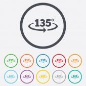 Angle 135 degrees sign icon. Geometry math symbol — ストックベクタ