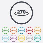 Angle 270 degrees sign icon. Geometry math symbol — Stock vektor
