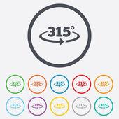 Angle 315 degrees sign icon. Geometry math symbol — ストックベクタ