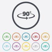 Angle 90 degrees sign icon. Geometry math symbol — ストックベクタ