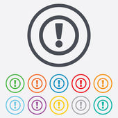 Attention sign icon. Exclamation mark. — Vetorial Stock