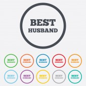 Best husband sign icon. Award symbol. — Stock Vector