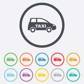 Taxi car sign icon. Hatchback symbol. — Stock Vector