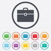 Case sign icon. Briefcase button. — Stock Vector