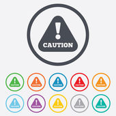 Attention caution sign icon. Exclamation mark. — Vetorial Stock