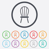 Chair sign icon. Modern furniture symbol. — Stockvektor