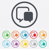 Chat sign icon. Speech bubble symbol. — Vetorial Stock