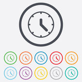 Clock sign icon. Mechanical clock symbol. — Vector de stock