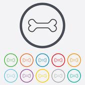 Dog bone sign icon. Pets food symbol. — Stock Vector